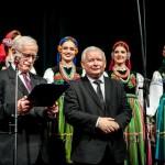 Prezes PIS Jarosław Kaczyński laureat nagrody w 2015 i Jan Pietrzak